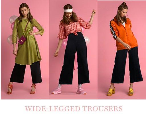 Wide-legged trousers