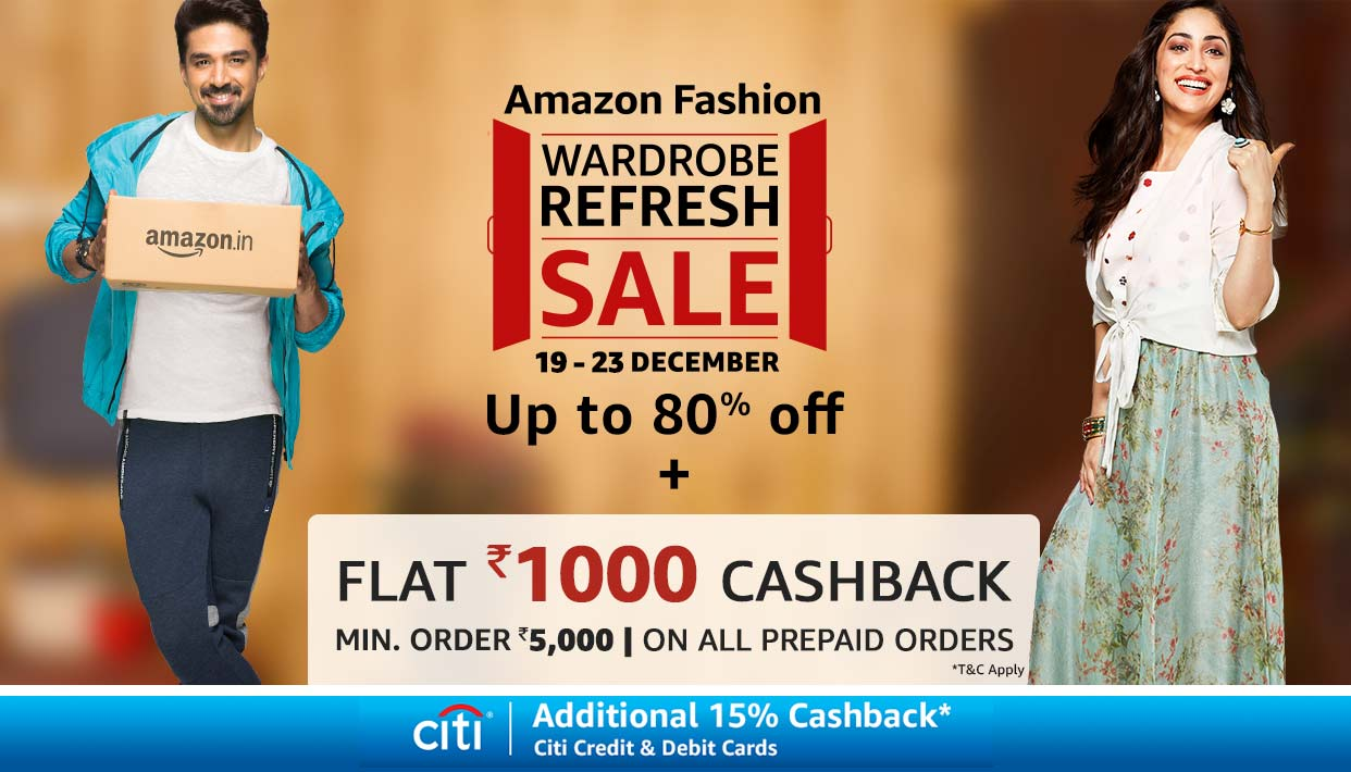 Amazon Wardrobe Refresh Sale 19th to 23rd December