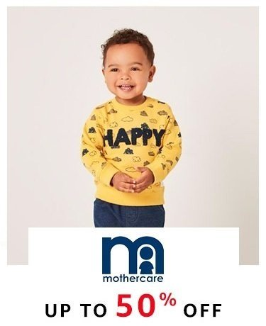 Mothercare: Up to 50% off