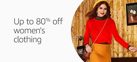 Upto 80% Off on womens Clothing from Amazon
