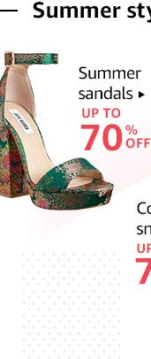 Summer Sandals: Up to 70% off