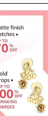 Gold drops: Up to 100% off