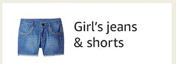 Jeans and shorts - girls
