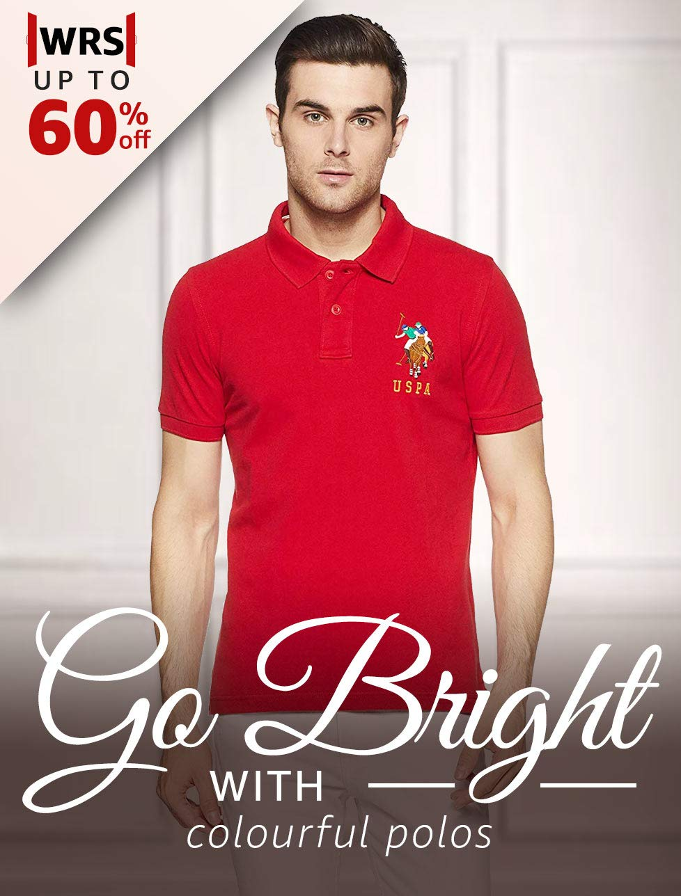 Go bright with colourful polos