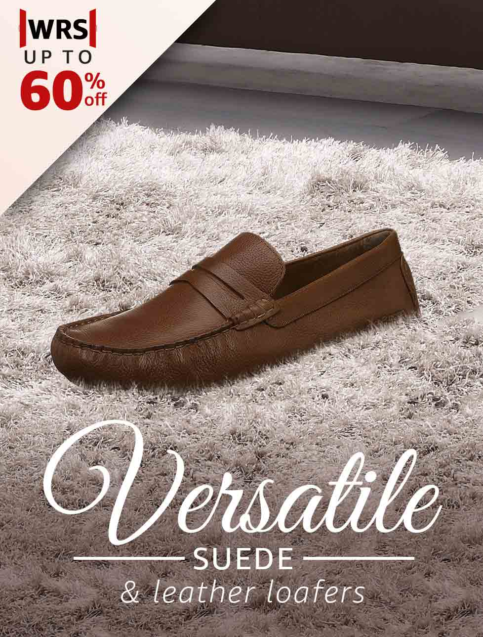 Versatile Suede & Leather Loafers
