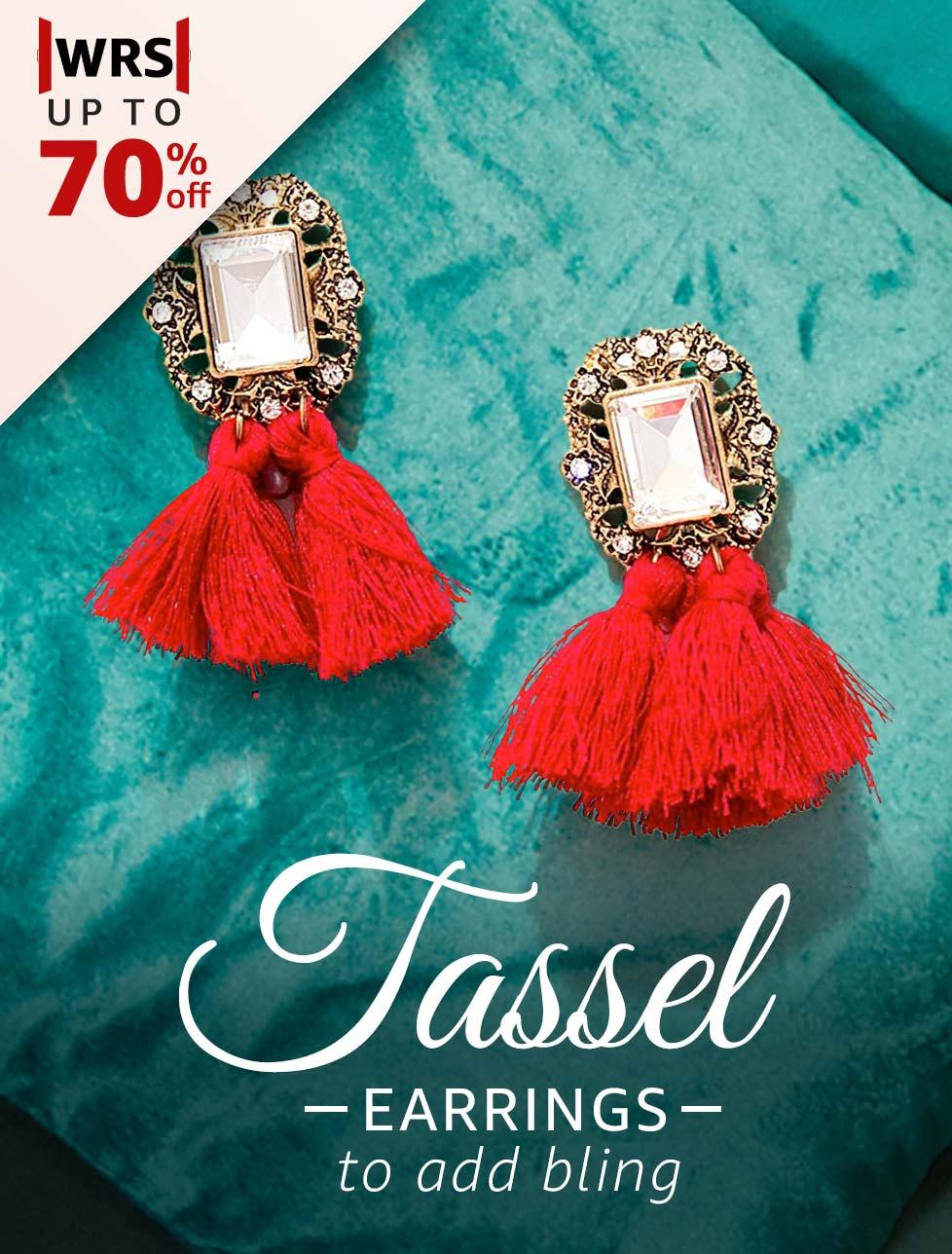 Tasseled Earrings to add bling
