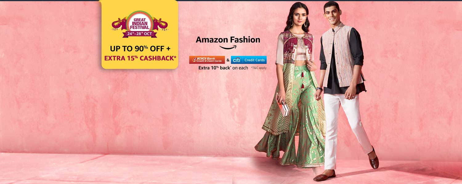 Fashion: Up to 90% off + 15% cashback