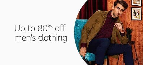 Men's Clothing: Upto 80% off