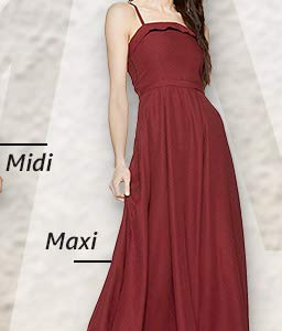 6c2253c4eb4d Dresses: Buy one piece dress for women online at best prices in India -  Amazon.in