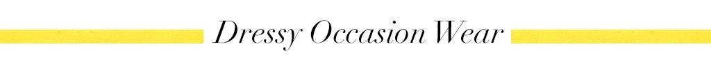 Dressy Occasion Wear