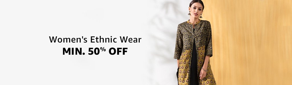 Women's Ethnic Wear at Minimum 50% Off Starting 350/- (Lehenga/Sarees/Kurtis/etc)