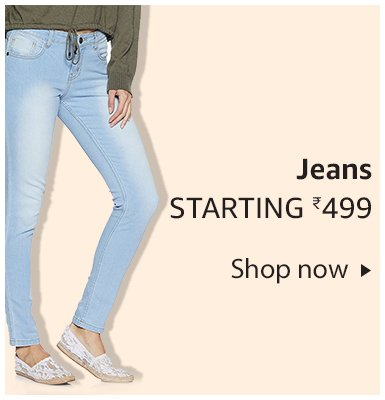 Jeans starting Rs. 499