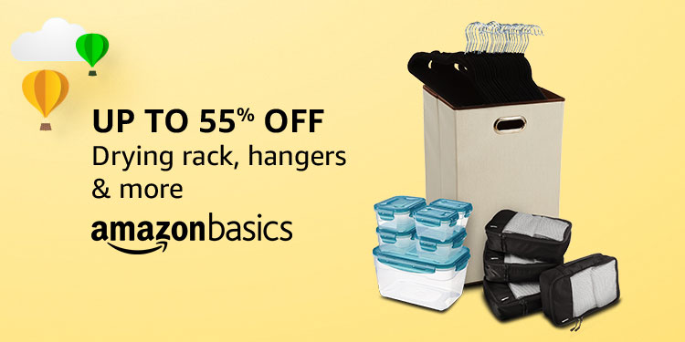 Up to 55% off: Drying rack, hangers & more from AmazonBasics