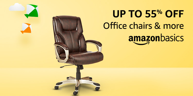 Up to 55% off: Office chairs & more from AmazonBasics