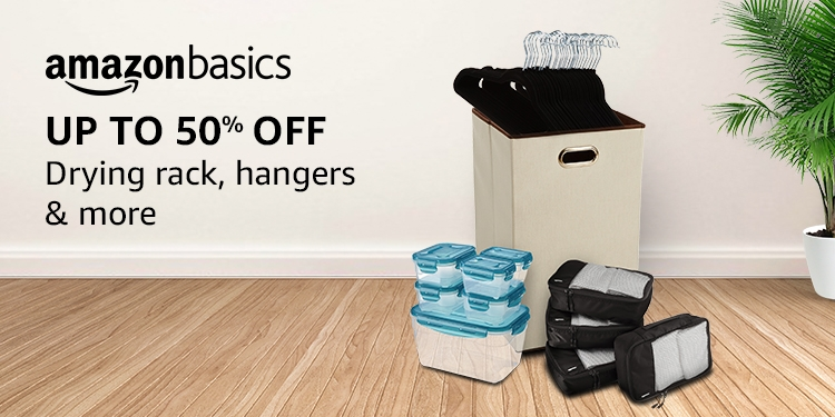 Up to 50% off: Drying rack, hangers & more from AmazonBasics