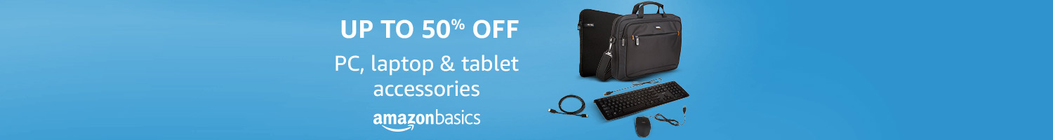 Up to 50% off - PC, laptop & tablet accessories from AmazonBasics