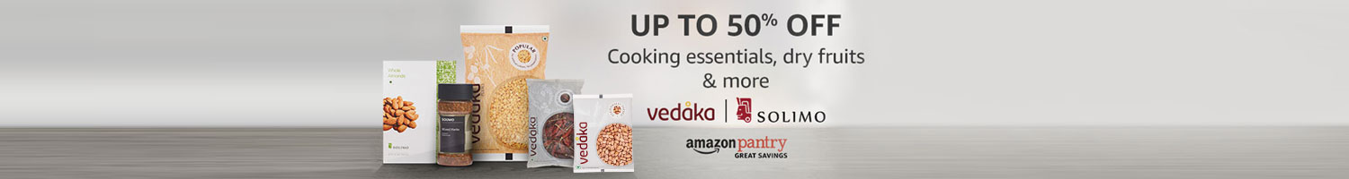 Up to 50% off: Vedaka & Solimo cooking essentials