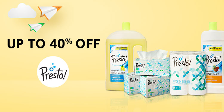 Up to 40% off- Presto!
