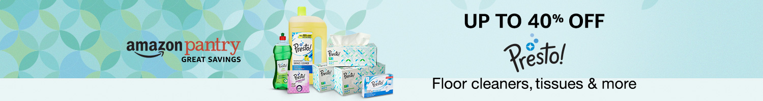 Up to 40% off: Tissues, floor cleaners & more from Presto!