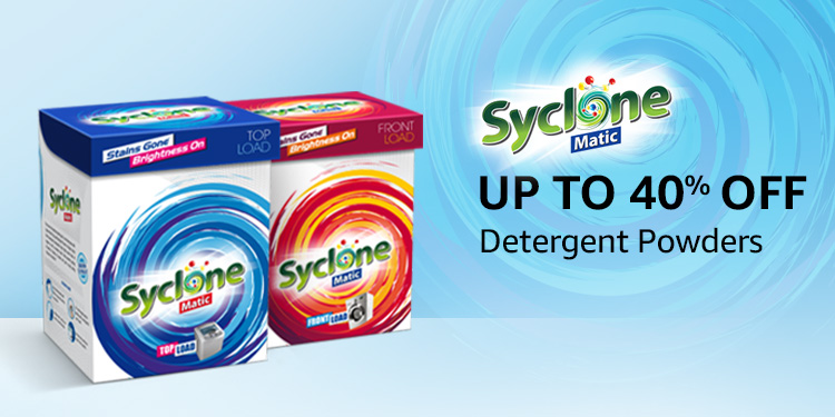 Up to 40% off: Syclone detergent powders