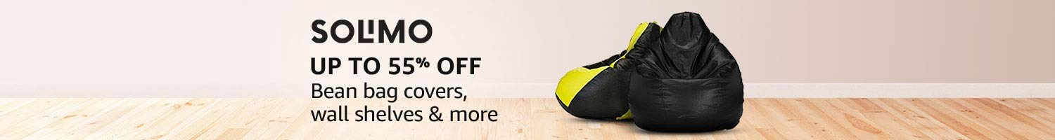 Up to 55% off: Bean bag covers & wall shelves from Solimo