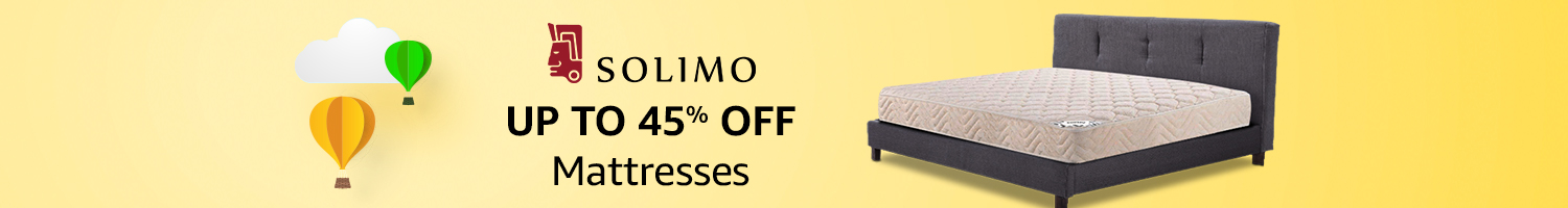 Up to 45% off: Mattresses from Solimo