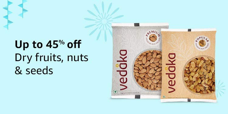 Up to 45% off: Dry fruits, nuts & seeds