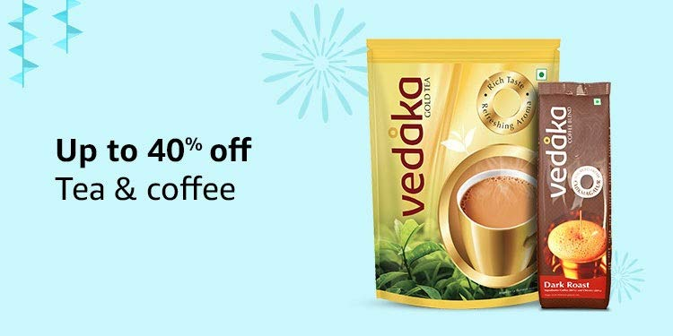 Up to 40% off: Tea & Coffee
