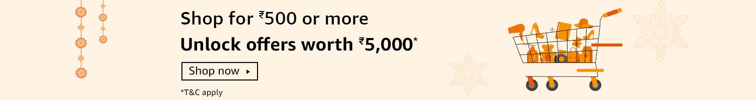 Shop for Rs.500 - Unlock offers worth Rs.5000