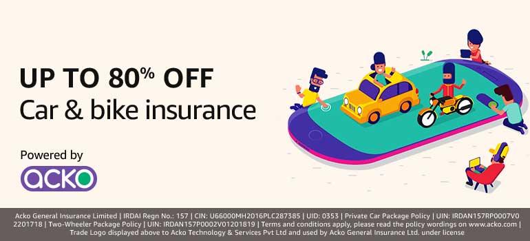 Car and Bike insurance offers - Upto 80% off | Free Stuff