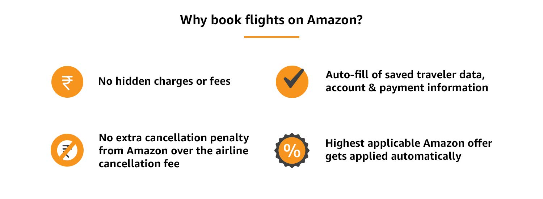 Book flights on Amazon