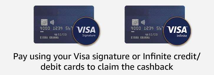 Pay using Visa cards