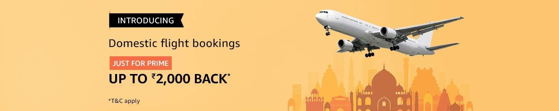 Domestic flight booking on Amazon
