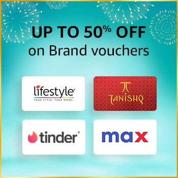 amazon.in - Up to 50% Discount on Brand Vouchers