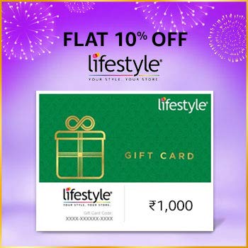 amazon.in - Get Flat 10% off on Lifestyle Gift Card
