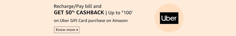 Get 50% back on Uber gift card