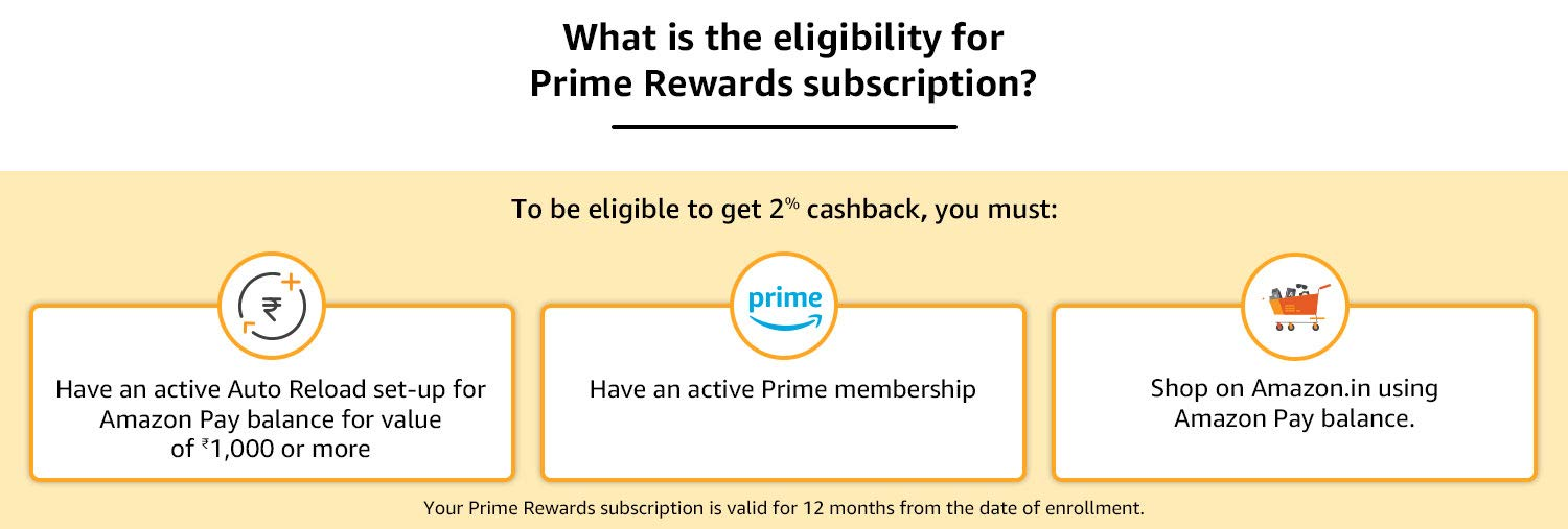 What is the eligibility for Prime Rewards subscription?