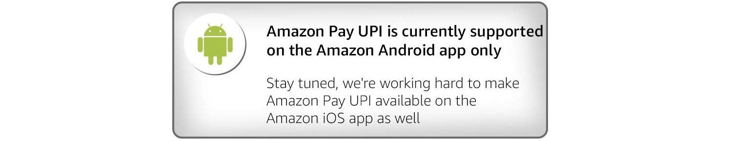 Amazon Pay UPI not available on PC