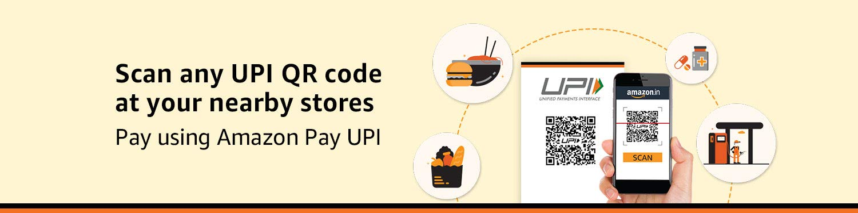 Now use Amazon app to scan any UPI QR code & Pay using Amazon Pay UPI