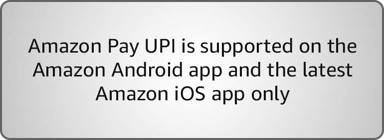 Amazon Pay UPI not available on PC