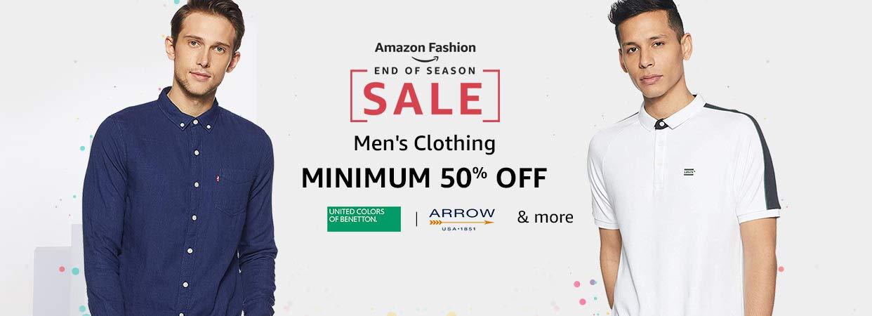 Men's Clothing | Min 50% Off