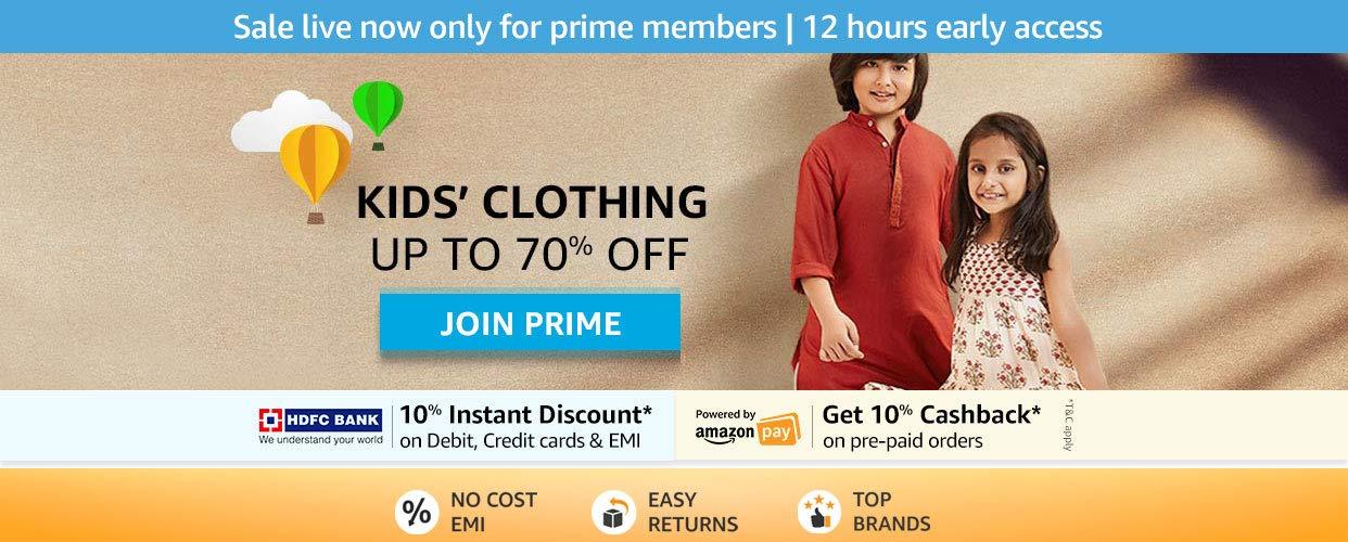 kids clothing Upto 70% Off