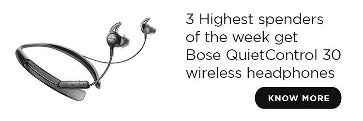 Win 3 Bose Wireless Quiet Control Earphone QC 30 | Free