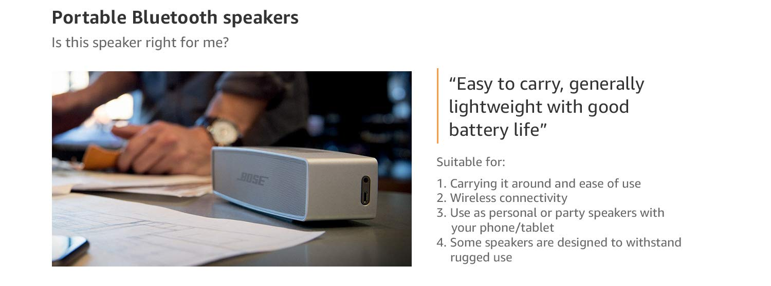 Amazon In Speakers Buying Guide Portable Bluetooth Speakers Electronics