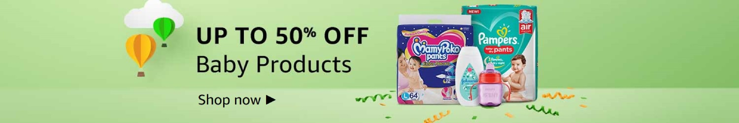 Up to 50% off - Baby Products
