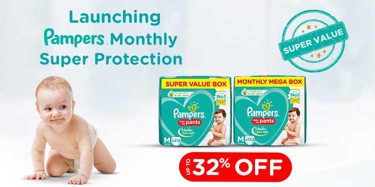 Pampers: Up to 32% off