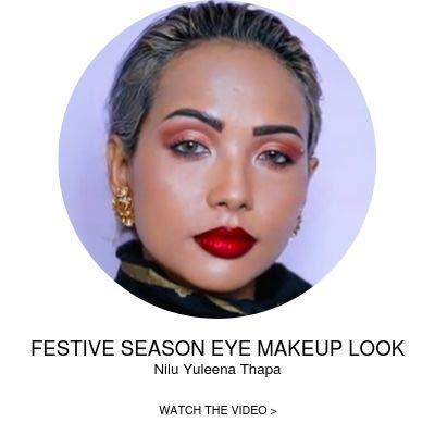 Festive eye makeup