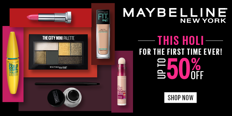Maybelline Flat 50% off