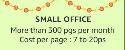 Small office More than 300 pgs per month Cost: 7 to 20ps