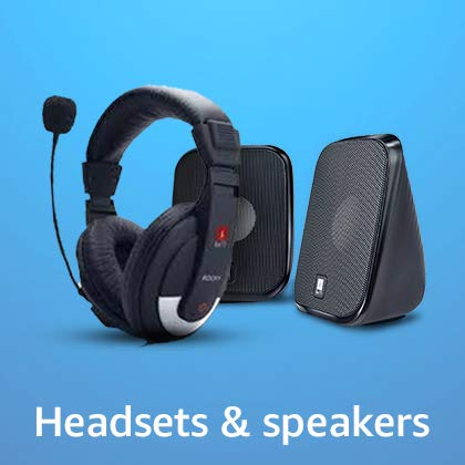 headsets and speakers